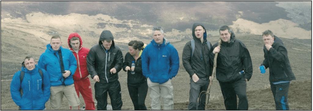 A Familibase group mid-hike