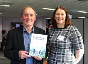 Senan Cooke, author of The Enterprising Community, with PAUL Partnership's Elaine MacGrath