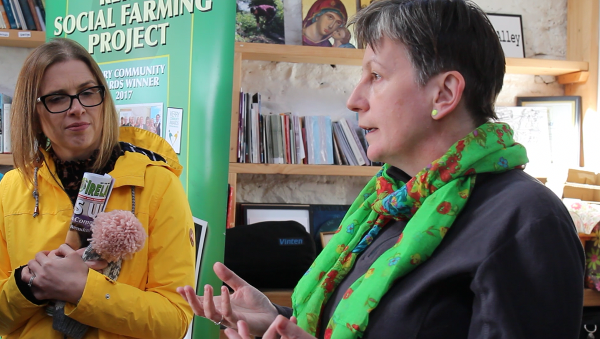 Lisa Keveney from the department listens to Julie Brosnan of Kerry Social Farming