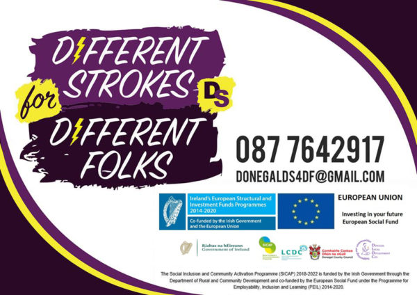 Different Strokes contact details graphic
