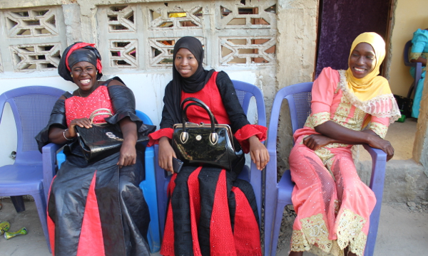 Women at the Busumbala naming ceremony