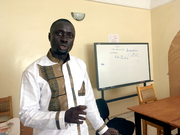 Sam Mendy, head of the Gambia Press Union's school of journalism