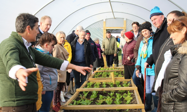 Social (and organic) farmer Rena Blake shares her knowledge with visitors during the open day