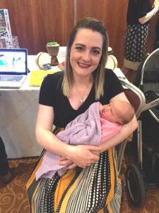 Rachael McCabe with her newborn baby Phoebe