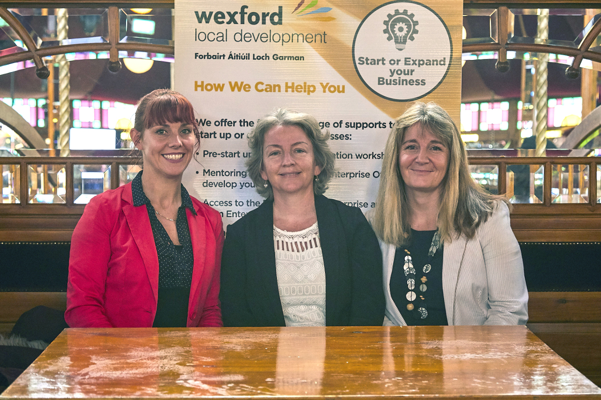 Dubhain Kavanagh, Esther Brennan and Anna Marie Bergin of Wexford Local Development
