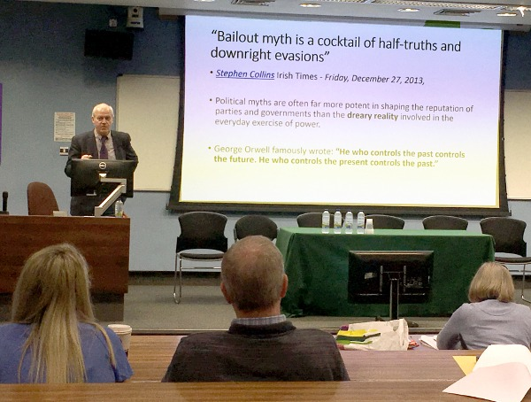 Ted O'Sullivan speaks at Credit Union Summer School in UCC