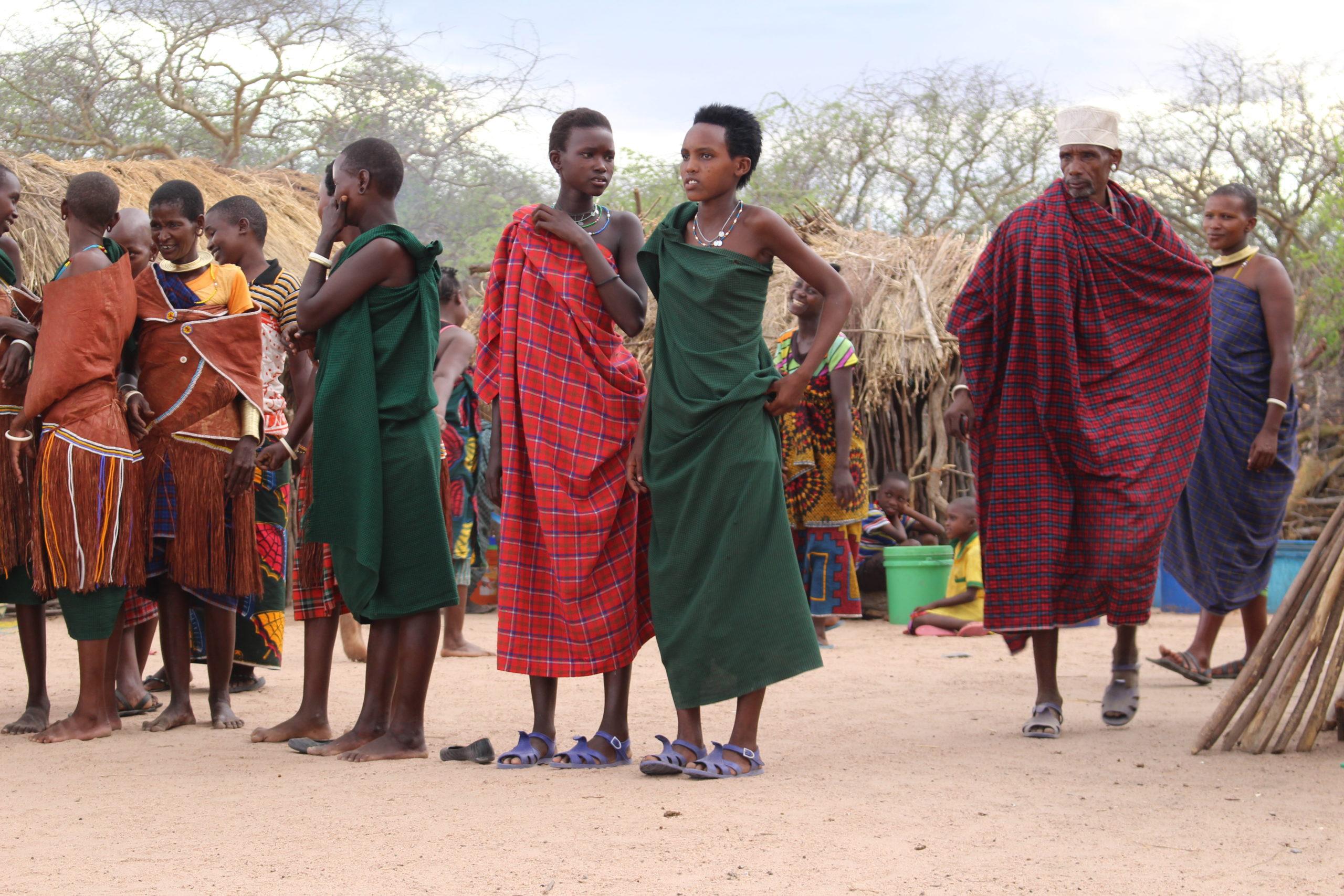 Barabaig gather for a dance