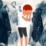 Children are sometimes at risk through contact visits with violent parents